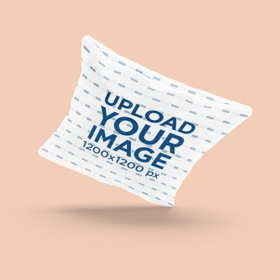 Mockup of a Pillow Floating Over a Customizable Background 3260-el1