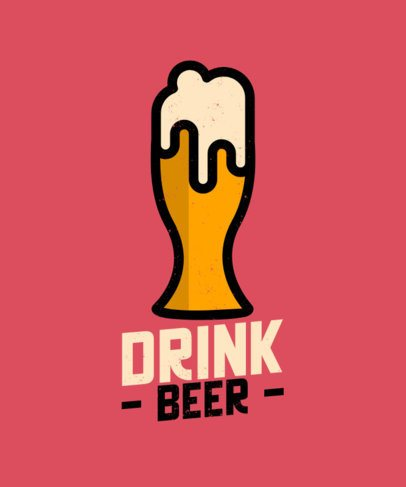 T-Shirt Design Maker with a Beer Glass Graphic 573a-el1