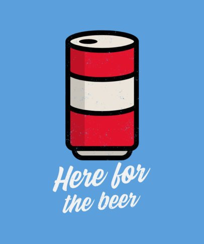 Beer T-Shirt Design Creator with a Fun Rhyme 573b-el1