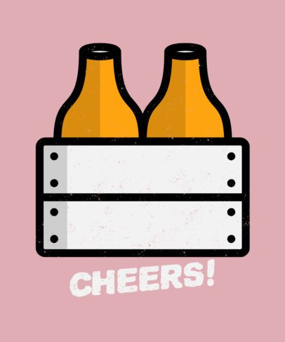 Fun T-Shirt Design Generator with Minimalistic Beer Graphics 573c-el1