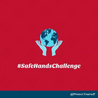 COVID-19 Prevention Social Media Post Design Template for a Healthy Challenge 2029e-2392