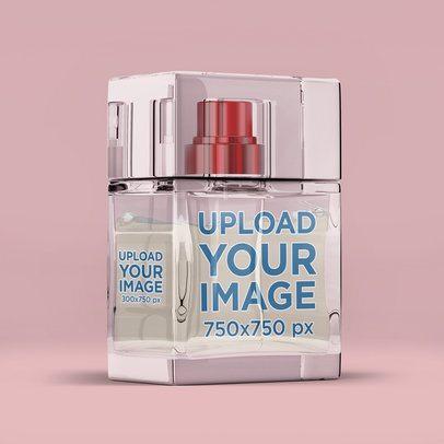 Perfume Bottle Mockup Featuring a Minimalistic Setting 3287-el1