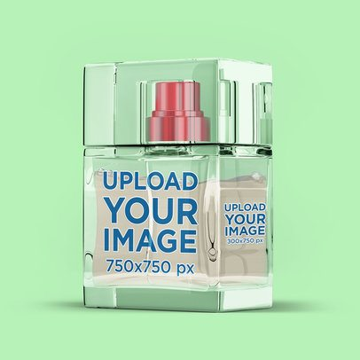 Perfume Bottle Mockup Featuring a Plain Color Backdrop 3289-el1