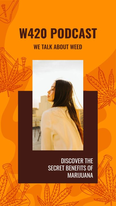 Instagram Story Maker Promoting a Marijuana-Related Podcast 2373f