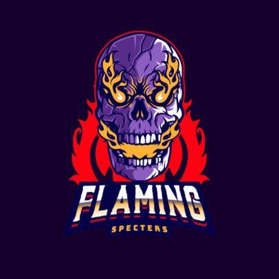 Gaming Logo Maker Featuring a Flaming Skull Illustration 3075d