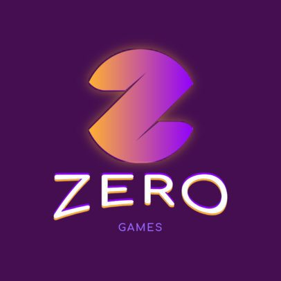 Gaming Logo Generator With a Simple Style and a Glowing Letter 3070j