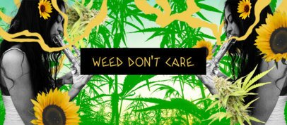 Facebook Cover Maker Featuring a Marijuana Leaf-Filled Background 2376e