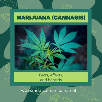 Facebook Post Design Template with a Cannabis Theme 2375e