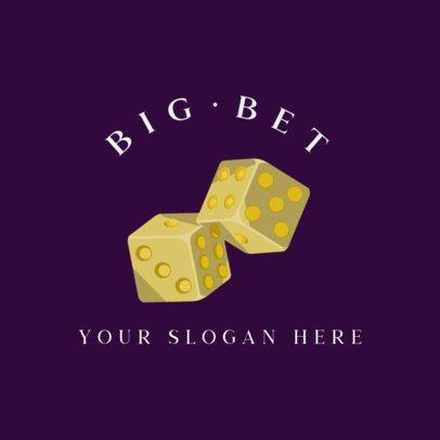 Logo Maker Featuring Casino-Themed Illustrations 597c-el1