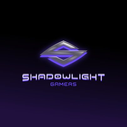 Futuristic Logo Maker for Gamers Featuring an Elegant Metallic Letter 3070o