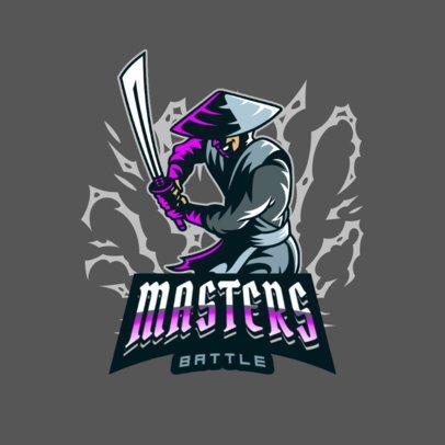 Logo Template for a Gaming Team Featuring a Samurai 3075h