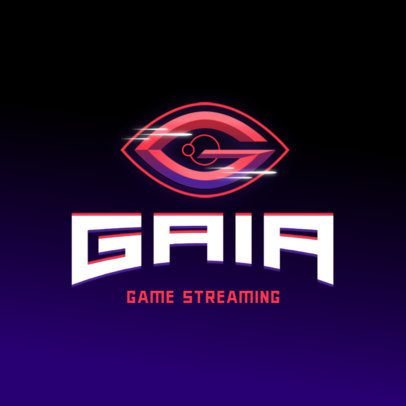 Logo Maker for a Gaming Channel Featuring a Space Graphic 3070g