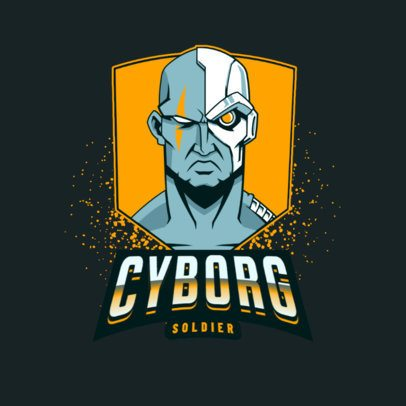 Gaming Logo Generator With an Evil Cyborg Clipart 3075i