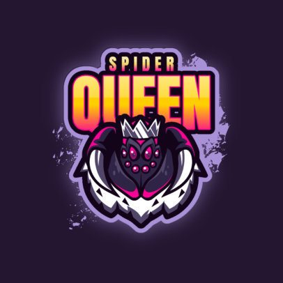 Gaming Logo Template Featuring Spider Character Graphics 3083