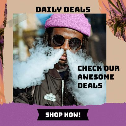 Banner Template for a Marijuana Ad 2377g