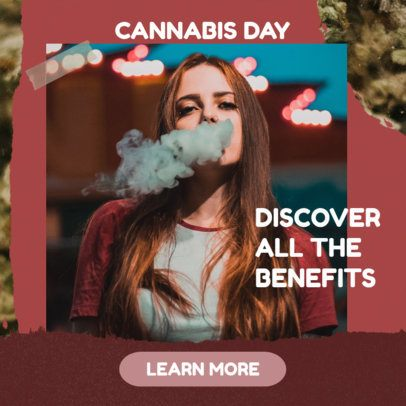 Banner Template for 420 Day Ad 2377i