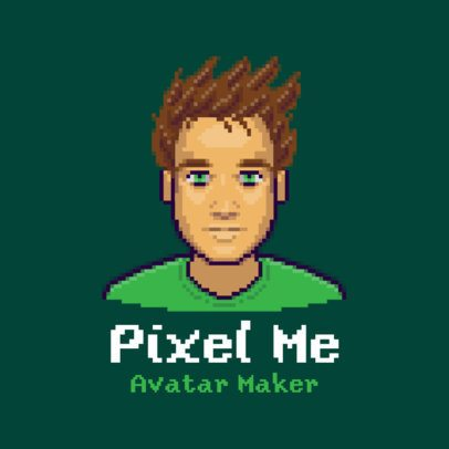 Gaming Logo Maker Featuring Customizable 16-bit Style Avatars 3093
