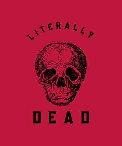 T-Shirt Design Creator Featuring Skull Illustrations 723-el1