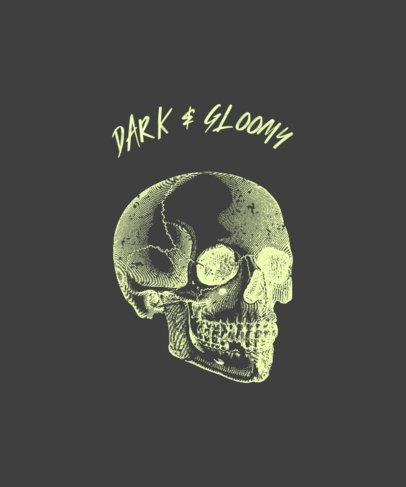 T-Shirt Design Maker Featuring a Gleaming Skull 723c-el1