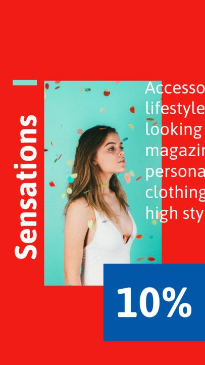 Trendy Instagram Story Generator for a Clothing Brand Sale 718b-el1