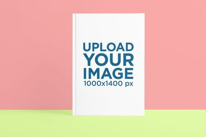 Mockup of a Hardcover Book Featuring a Two-Color Background 3401-el1