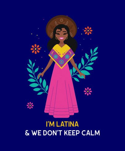 Funny T-Shirt Design Template About Latino Culture 2402f