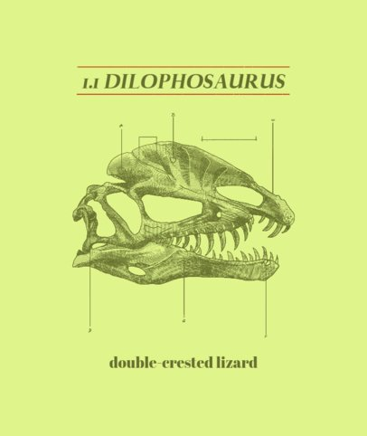 Tote Bag Design Generator with a Dinosaur Skull Drawing 2407d