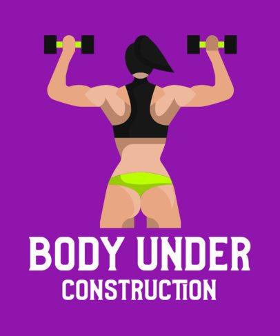 T-Shirt Design Creator Featuring a Female Bodybuilder Icon 710b-el1