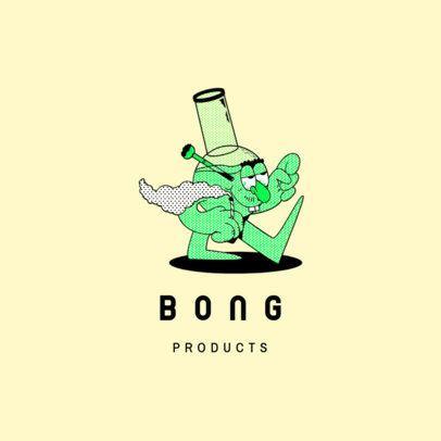 Cannabis Products Logo Maker Featuring a Bong Cartoon 3082a