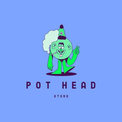 Cannabis Store Logo Template With a Funny Character 3082g