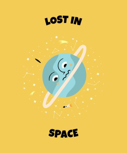 Online T-Shirt Design Maker with an Illustration of a Troubled Planet 2410h