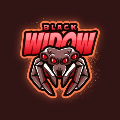 Gaming Logo Maker with a Black Widow Illustration 3083a