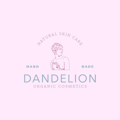 Skin Care Brand Logo Template with Minimalist Graphics 3086b