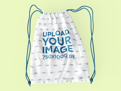 Drawstring Bag Mockup with Customizable Strings 3498-el1
