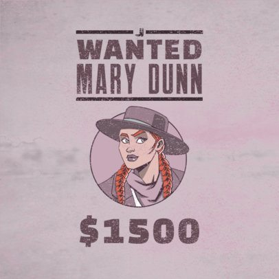 Gaming Logo Maker Featuring a Red Dead Redemption-Inspired Female Character 3091f