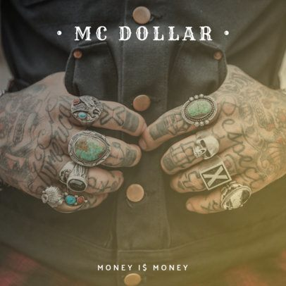 Hip-Hop Money Album Cover Design Template 465b