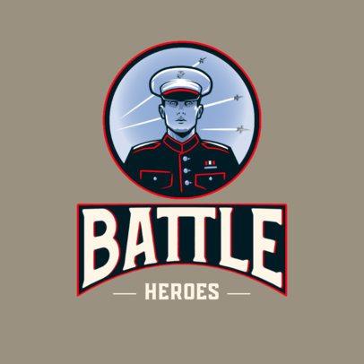 Gaming Logo Maker Featuring Veteran Military Graphics 3122