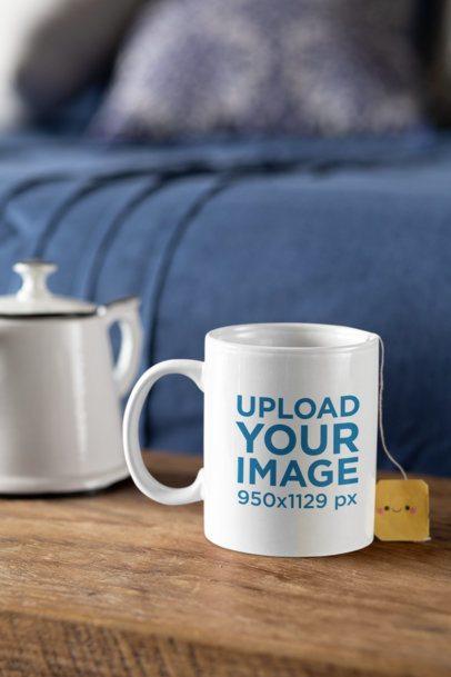 11 oz Mug Mockup with a Tea Bag Inside 33189