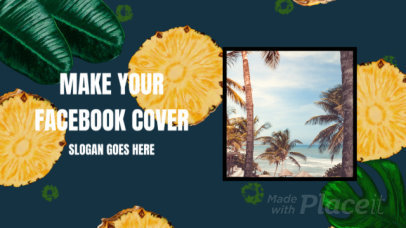 Summer-Themed Facebook Cover Video Maker with Pineapple Slices Graphics 1811