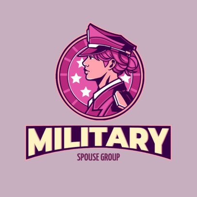Logo Maker Featuring a Courageous Troop Soldier 3122b