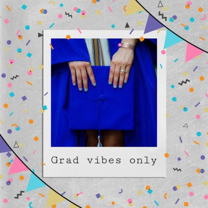 Graduation Day Instagram Post Generator With Colorful Celebration Graphics 2431s