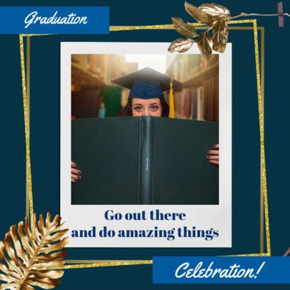Instagram Post Creator with a Photo Frame of a Celebrating Graduate Woman 2431g
