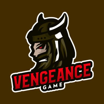 Gaming Team Logo Maker Featuring the Face of a Viking Warrior 832e-el1