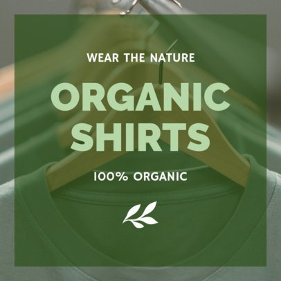Organic T-Shirts Instagram Post Creator 634e