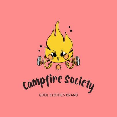 Kids Clothing Brand Logo Maker Featuring Childlike Doodles 3115