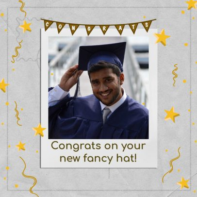 Graduation-Day Instagram Post Creator Featuring Star Graphics 2431b