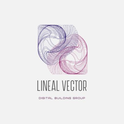 Logo Template Featuring Lineal Vector Graphics 3113d