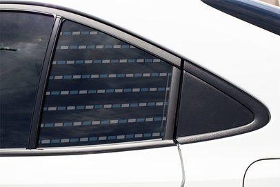 Window Decal Mockup Featuring a Sedan's Back Door 33293
