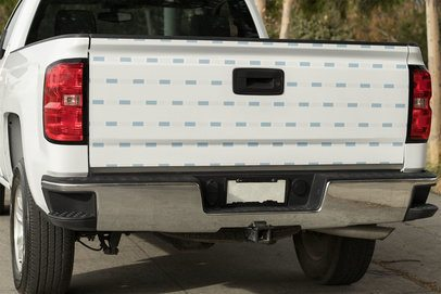Mockup of a Decal on a Pickup Truck 33243