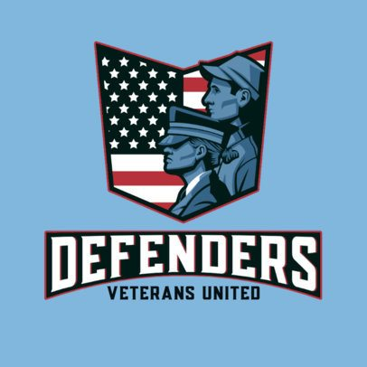 Gaming Logo Template with a United Veterans Graphic 3122d